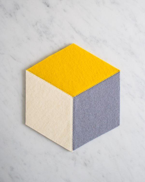 DIY Tumbling Blocks Coasters Tutorial with FREE Pattern ...