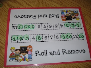 Mrs. Kimbrell's Kindergarten: Math Games... I like this but make into 3rd grade multiplication game with fact sets