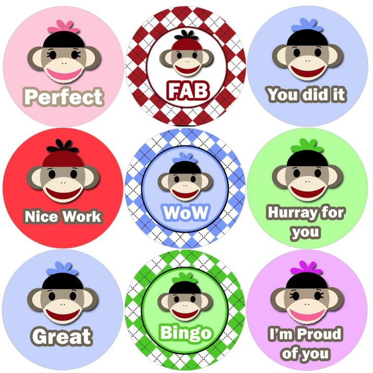 <p>These Super Sock Monkey reward stickers are perfect to make a big impression on young learners and can be used with any Reward System.</p>