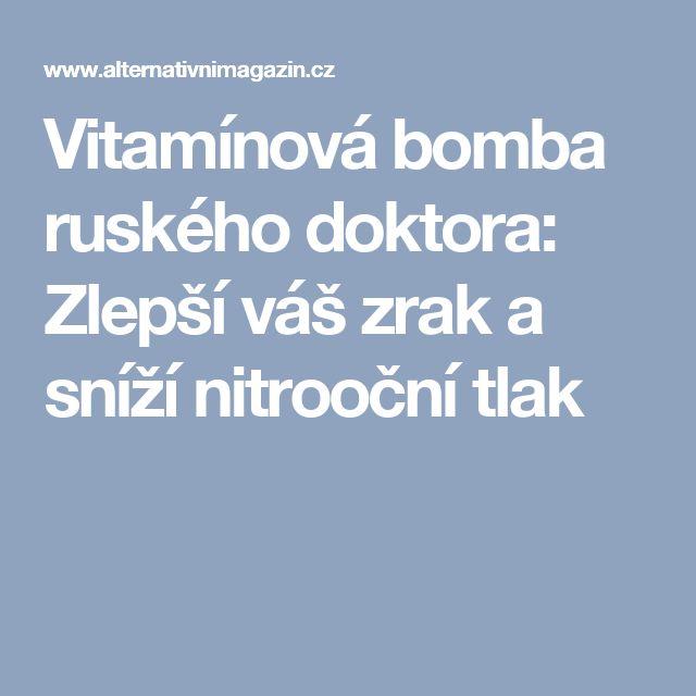 Vitamínová bomba ruského doktora: Zlepší váš zrak a sníží nitrooční tlak