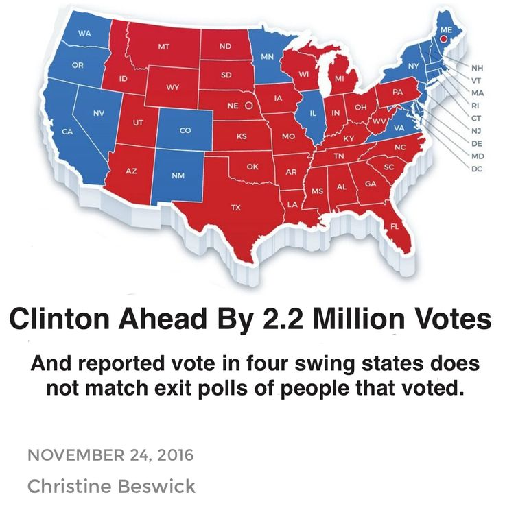 Many Americans have not accepted the initial electoral map results for 2016. It is a feeling that has only intensified with the intelligence community pointing to alleged Russian hacking of elections. Additionally, computer science experts suggesting that the initial tallies of the 2016 electoral map results don't make sense has increased uncertainty, as have significant discrepancies between exit polls and initial projections made on election day.