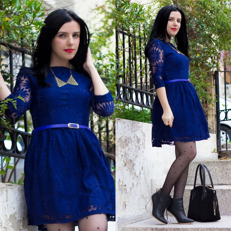 Ne Giydim: Mavi Dantel Elbise - http://pemberuj.net/arsiv/110801/ne-giydim-mavi-dantel-elbise/