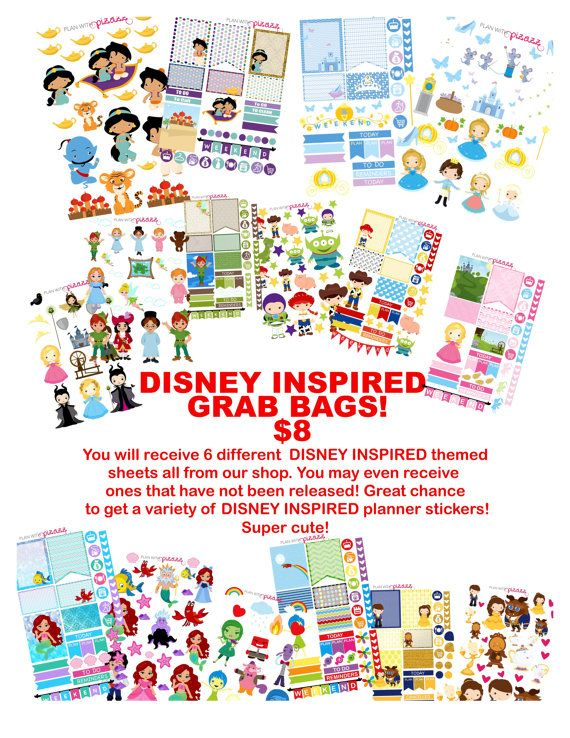 You will receive 6 sheets of 1/2 sheet sizes. These sheets are perfect sheets. They are not misfits or oopses! Sheets will be randomly chosen and each bag may have different sheets. We CAN NOT guarantee whats in each bag but will strive to make sure each bag contains a variety. Sheets may include anything from our shop from The Disney Inspired Collection including new releases and may even contain never before released sheets. Its a MYSTERY! If purchase more than one you will more than…