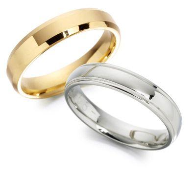 Argollas de Matrimonio Listas Oro Amarillo y Oro Blanco