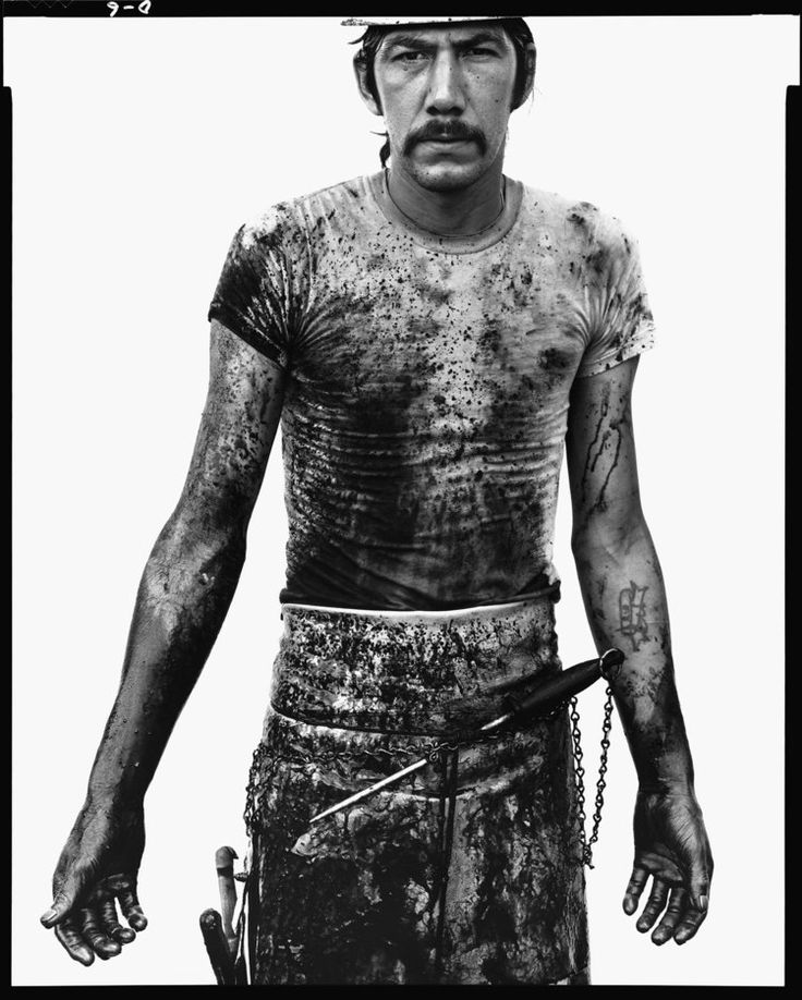 Blue Cloud Wright, slaughterhouse worker, Omaha, Nebraska, August 10, 1979