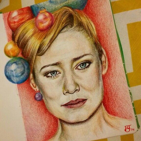 Merry Moloko Christmas!  Sketch of Roisin Murphy, 2014 Felicity Grabkowski
