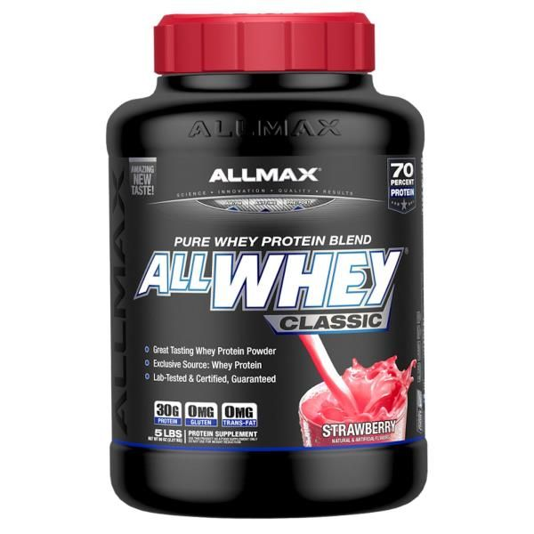 ALLMAX Nutrition, AllWhey Classic, 100% Whey Protein, Strawberry, 5 lbs (2.27 kg)