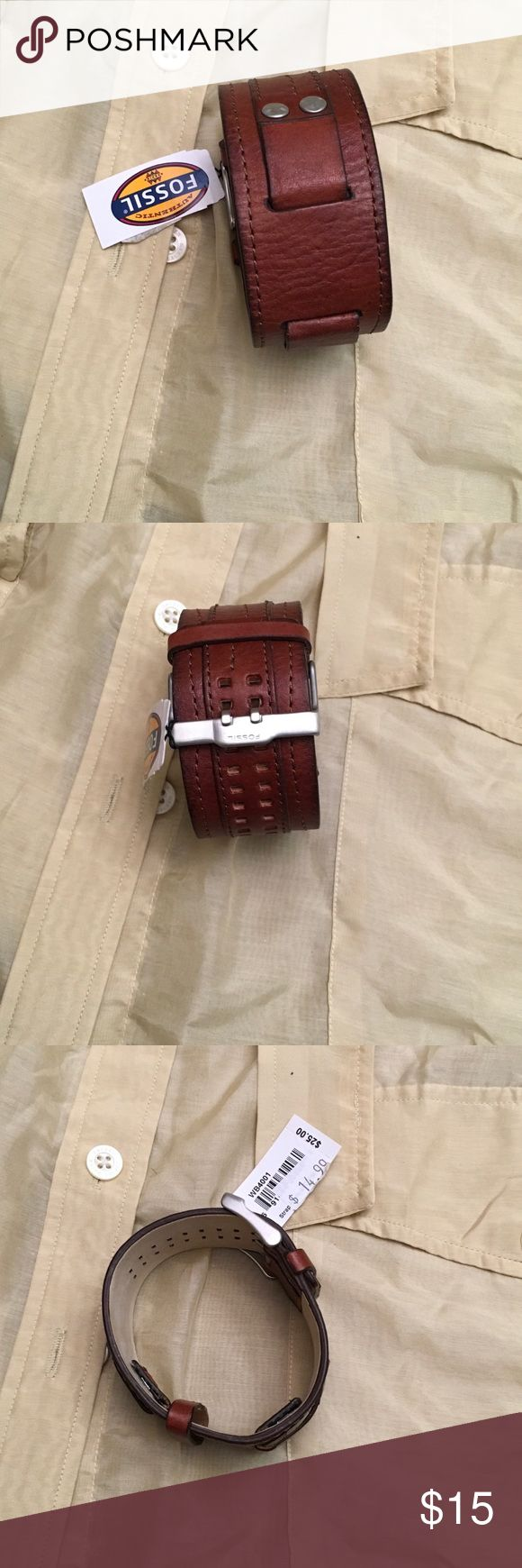 NWT Fossil Brown Leather Watchband/bracelet NWT Fossil Brown Leather Watchband/bracelet Fossil Jewelry Bracelets