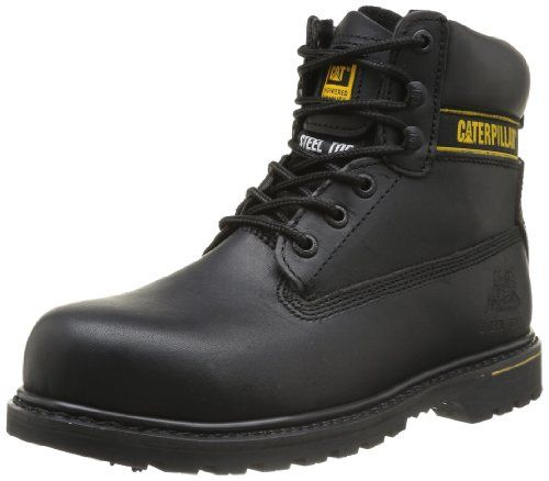 Caterpillar CAT Footwear Holton, Mens Work and Safety Boots, Black, 7 UK Caterpillar Holton 6 black safety boots are perfect for industrial safety regulated working environments. Comfortable and robust these boots are Goodyear-welted featuri (Barcode EAN = 5050669650028) http://www.comparestoreprices.co.uk/december-2016-4/caterpillar-cat-footwear-holton-mens-work-and-safety-boots-black-7-uk.asp