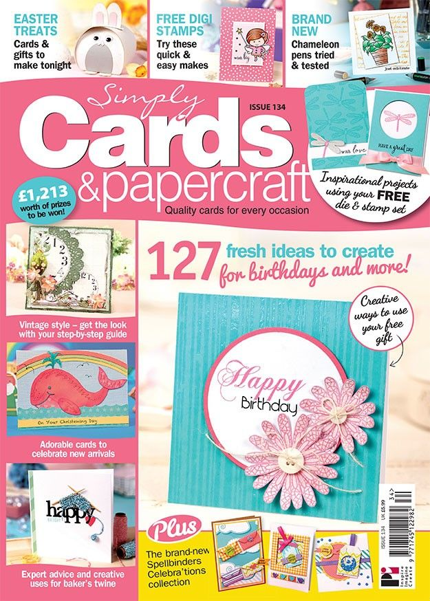 Simply Cards & Papercraft 134 on sale NOW with a FREE dragonfly embossing die & stamp set! Get yours here: http://www.moremags.com/home-page-scroller/issue134-simply-cards-papercraft