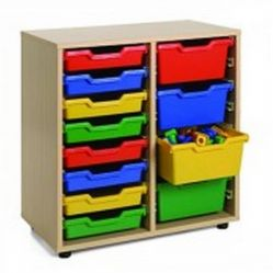 Mueble escolar cubetero 2 columnas