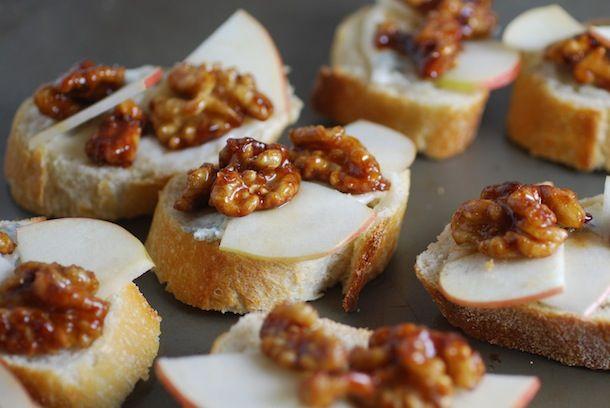 Gorgonzola, Spicy Candied Walnut & Apple Crostini | Always Order Dessert