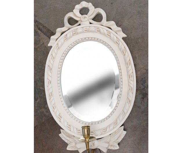 Mirror in Gustavian Sconce style (item no: 5311). Visit our homepage for more information and to view all your finish & fabric options. /SWSC