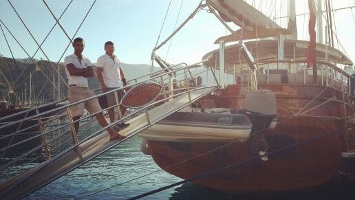 #kaptanmehmetbugra arrived at #marmarisharbour after their trip in the #gulfofhisaronu now getting ready for their trip to #gocek // still #bluecruise season in #turkey and #travellers are still #bluecruisinit // our beautiful #gulet is available in the #dodecanese #cyclades and of course #turkey for 2016 #miryabluecruise