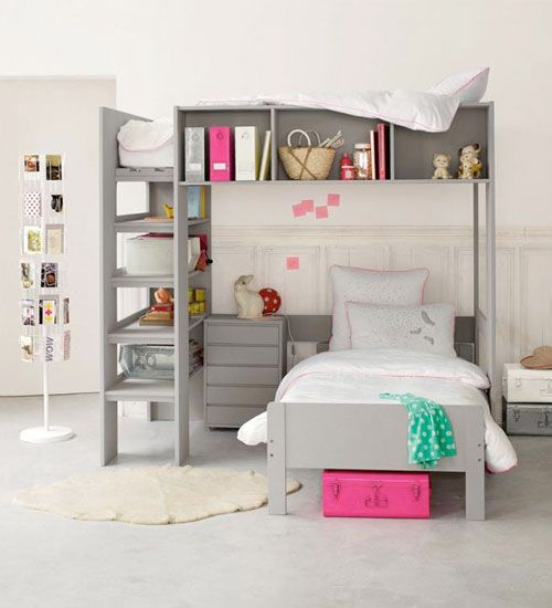 Slaapkamer Ideeen Tweeling : Bunk Beds with Storage