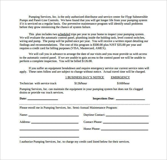 28 Free Hvac Maintenance Contract Template In 2020 Hvac