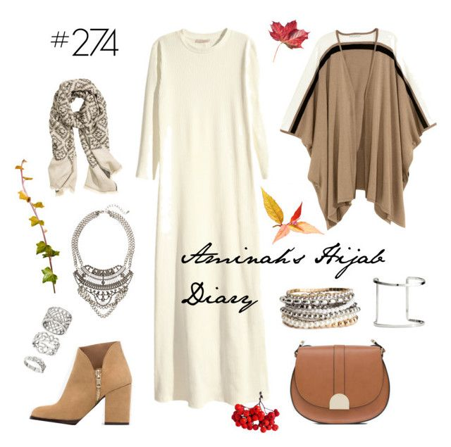 """#274 Winter White"" by aminahs-hijab-diary ❤ liked on Polyvore featuring H&M and Zara"