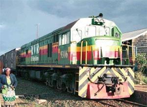 Kenya Railways train -- Nairobi to Mombasa.