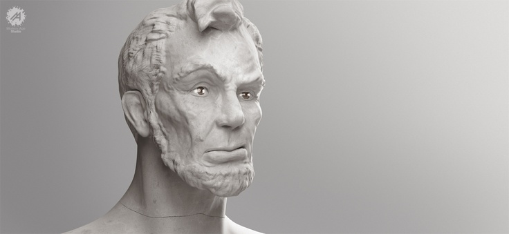 Lincoln portrait    This serie Visions is a tribute to great historical icons who, even if there are not here anymore, their vision still is