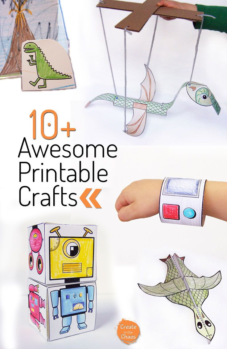 Unusual image within printable kid crafts
