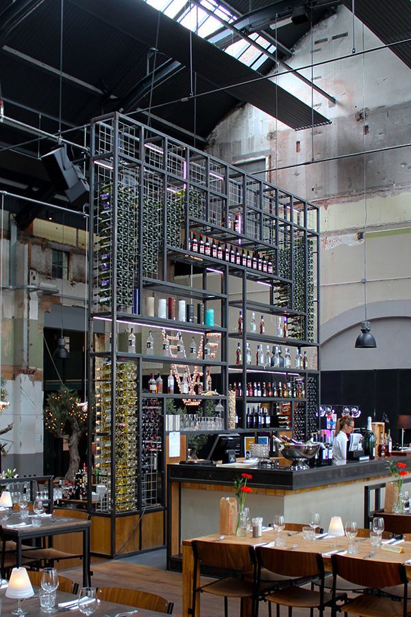 The Khotinsky restaurant is housed in an old power plant in the Dutch town of Dordrecht /// More on Interiorator.com