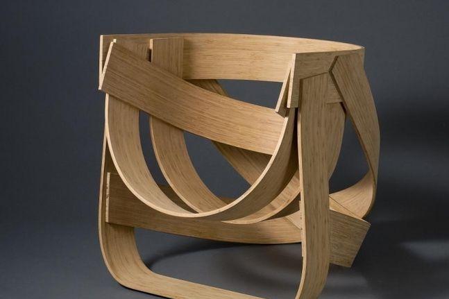 голландский мастер Tejo Remy Rene Veenhuizen Bamboestoel: дизайнерские кухонные стулья из бамбука