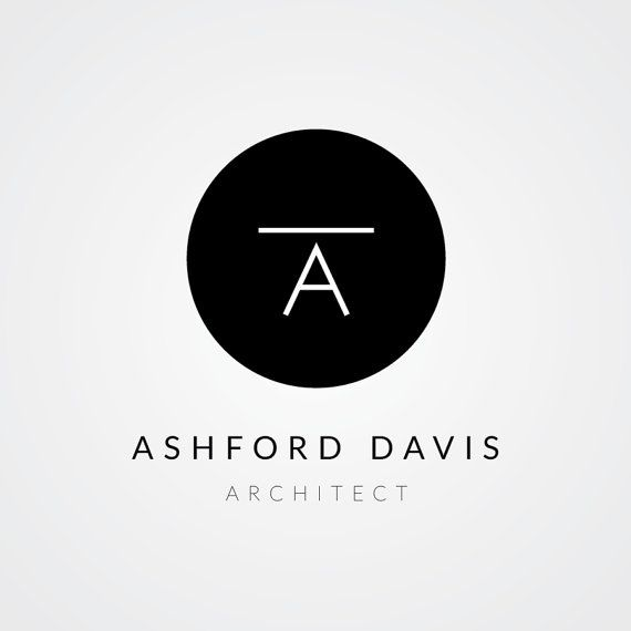 Premade Architect Logo Design  Instant Download by SpruceAndWillow