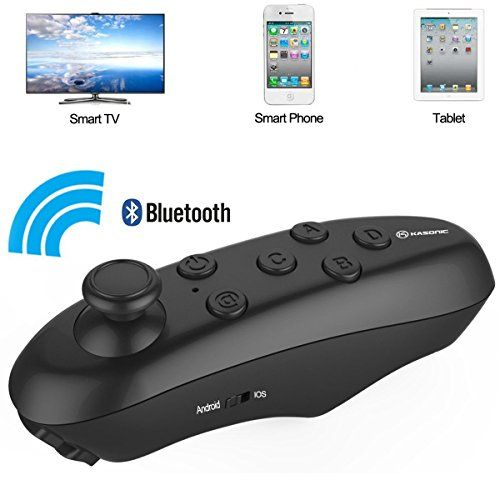 VR Glasses Bluetooth Remote Controller Kasonic Wireless Support Virtual Reality Headset Glasses for IphoneSamsungIOS or Android Smartphones