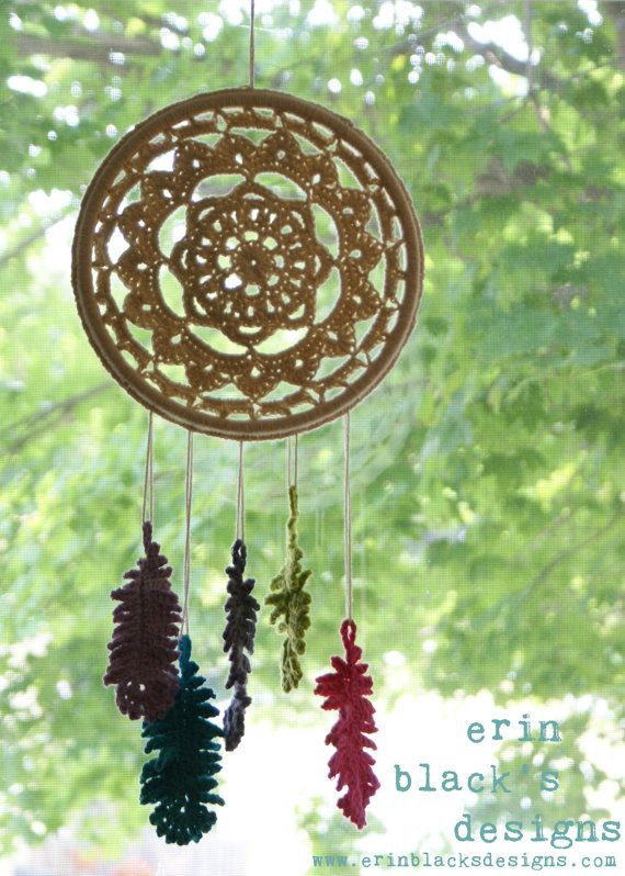 DIY Crochet PATTERN Dreaming of Feathers Dreamcatcher por Midknits
