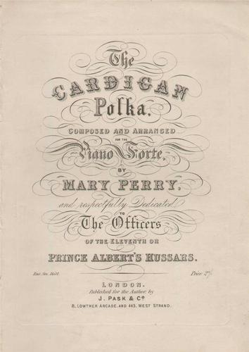 The Cardigan Polka 1855 Victorian Sheet Music 11th Hussars Prince Albert's Hussars