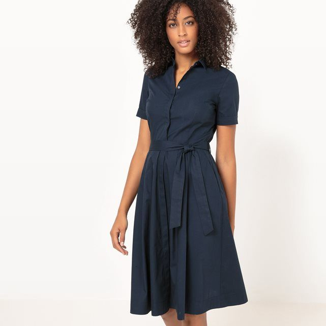 Short-Sleeved Shirt Dress