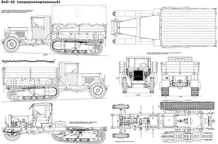 Альтернативный БТР РККА ЗИС ТБ-42 и семейство машин на его базе.