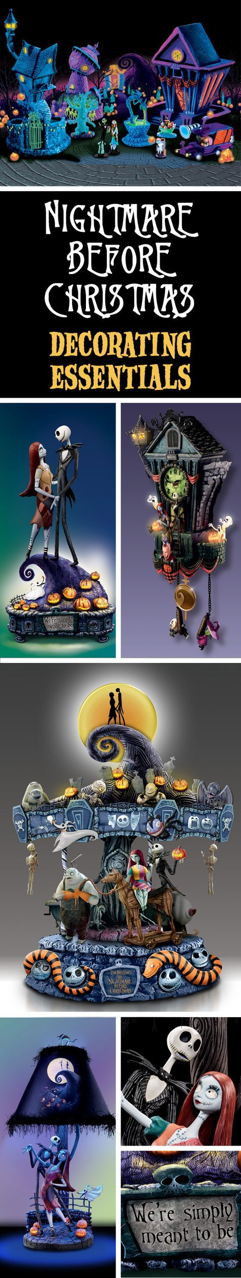 Scared of being unprepared this holiday season? Add some spooktacular accents to your home with our Disney-licensed Nightmare Before Christmas décor. All your favorite Halloween Town characters are ready to greet you!