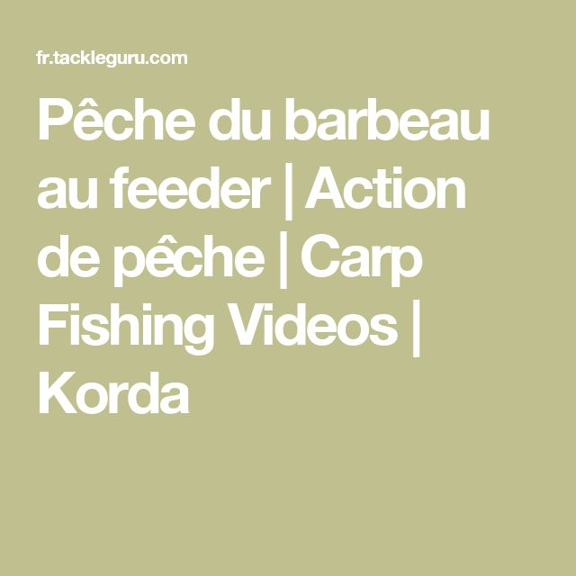 Pêche du barbeau au feeder | Action de pêche | Carp Fishing Videos | Korda
