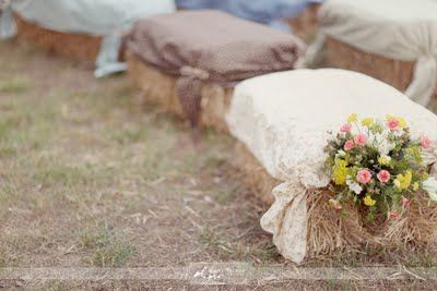 Rustic Wedding, hay bale seating, farm, ceremony seating ideas, Charlotte Wedding Planner