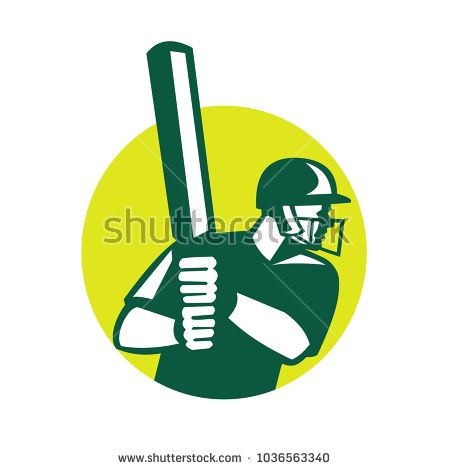 Icon retro style illustration of a cricket batsman batting viewed from side set inside circle on isolated background.  #rugby #icon #illustration