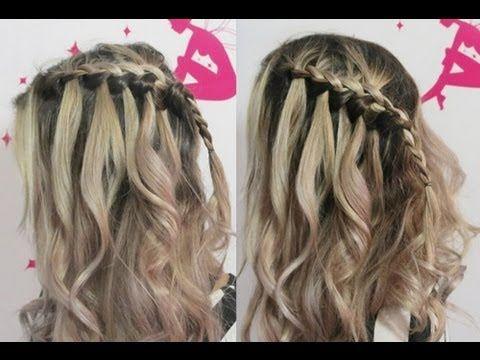 Hairstyle: Trança Francesa em Cascata por Pamella Rocha -French braid tutorial - YouTube