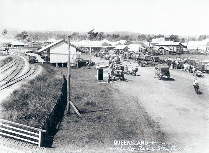 1898 Laidley Railway Station Corn Day