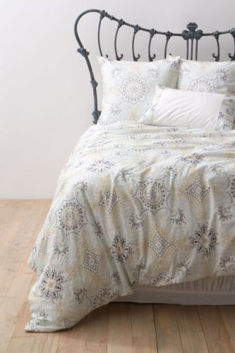 386-NIP-ANTHROPOLOGIE-Ria-Embroidered-QUEEN-Duvet-Cover-2-Stand-Shams-Bedding for $290!