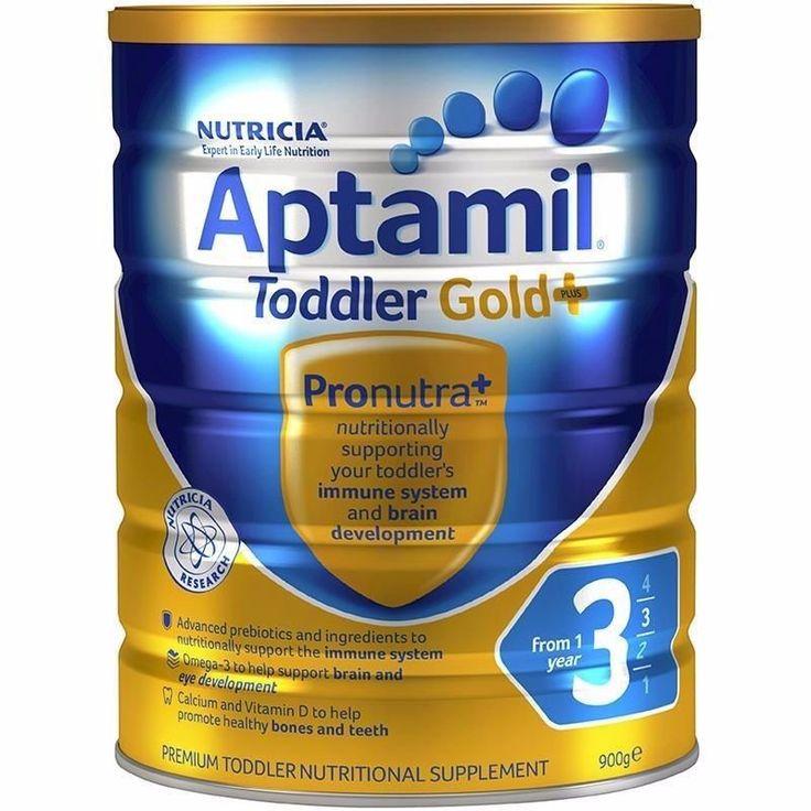 3 X APTAMIL TODDLER GOLD 3 NUTRITIONAL SUPPLEMENT MILK POWDER BABY 900G = 2.7KG