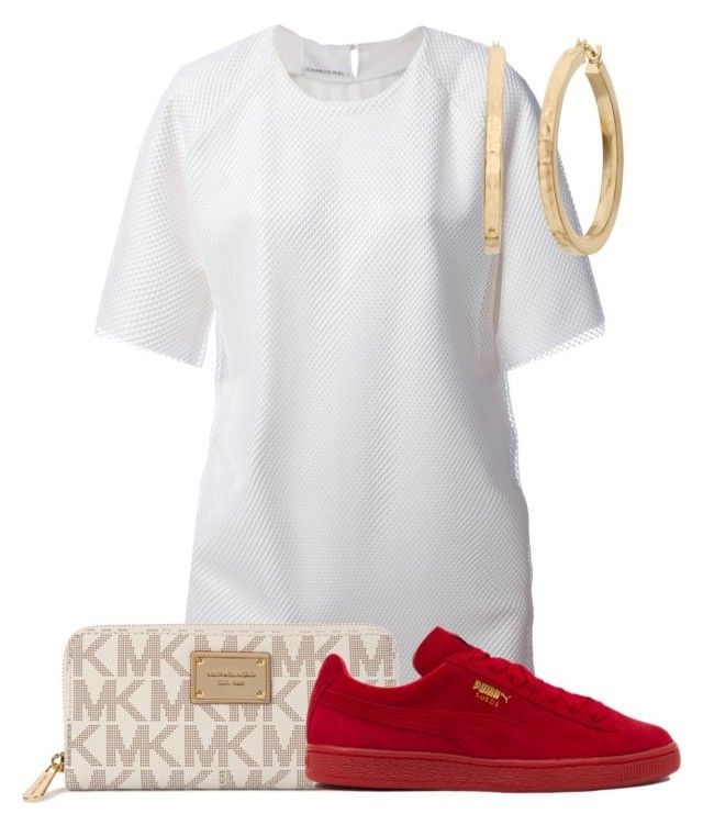 """""""."""" by thetruthdoesnothavetohurt ❤ liked on Polyvore featuring Charlie May, Michael Kors and Puma"""