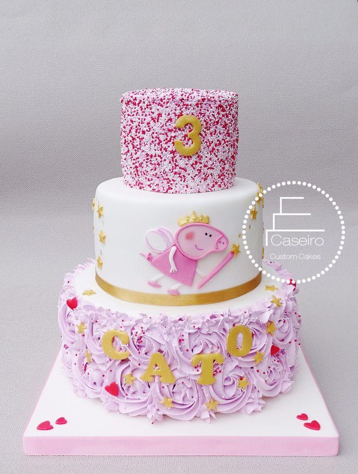 Fairy Princess Peppa Pig Birthday cake