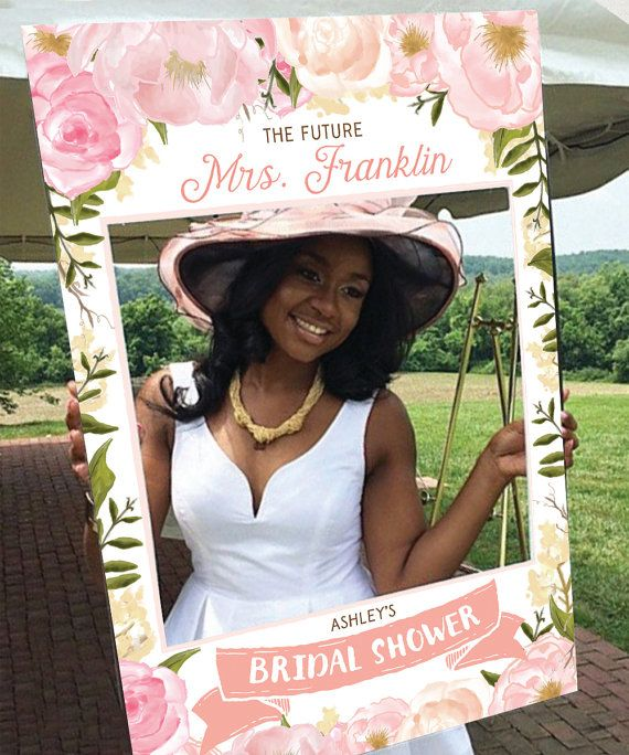 Bridal Shower Photo Prop Pink Floral DIGITAL FILE