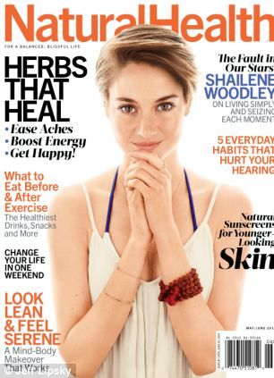 Wild diet: The 22-year-old Divergent star graced the cover of this month's Natural Health Magazine revealing more of her alternate tendencies