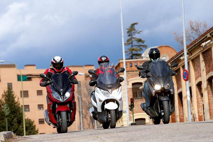 Imágenes de la comparativa entre el Kymco K-XCT 125i, Suzuki Burgman 125 y Yamaha X-Max 125 | Motociclismo.es