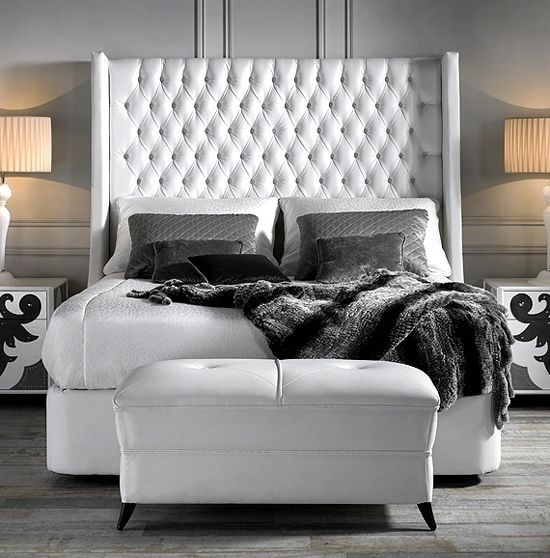 Tall and fitted deep buttoned headboards. Deep buttoned Designer headboard only. Mattress and bed frame available separately. Headboard fabric not included.