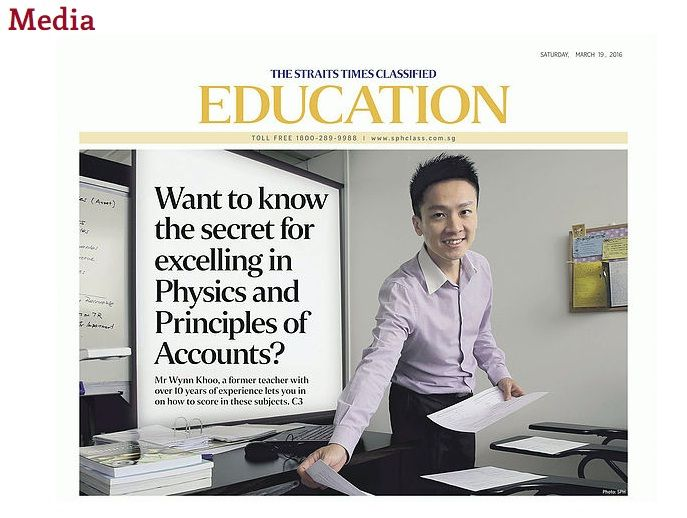 Media  THE STRAITS TIMED CLASSIFIED EDUCATION  Mr Wynn Khoo, a former teacher with over 10 years of experience lets you in on how to score in these   Physics subjects. C3