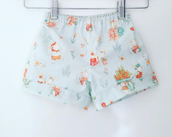 Easter shorts, vintage bunny shorts, boys easter shorts, girls easter shorts, bunny shorts, easter outfit, boys easter, size 1, 12/18 months