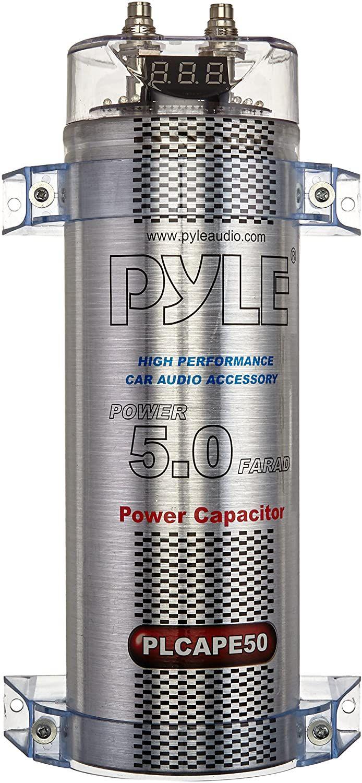 5 0 Farad Digital Power Capacitor High Performance Car Audio Accessory With Blue Digital Displ Car Audio Capacitor High Performance Cars