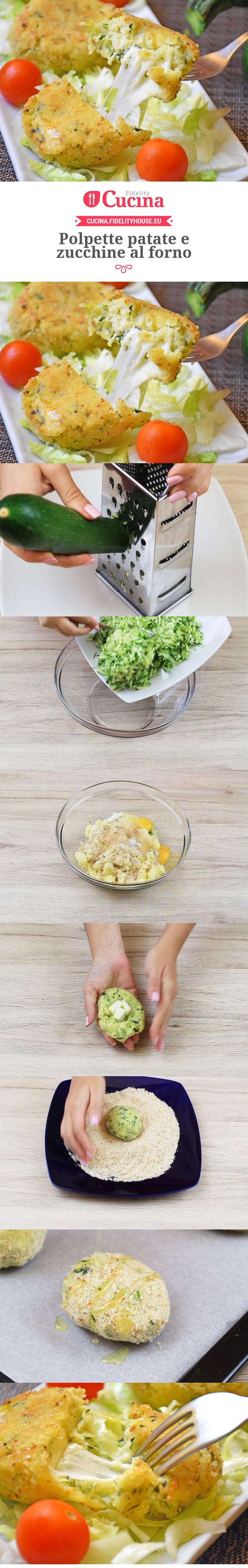 Polpette patate e zucchine al forno
